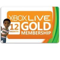 Карта оплаты Xbox Live Gold на 12 месяцев