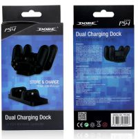 Зарядная станция для двух контроллеров DualShock 4 - Dobe Dual Charging Dock Station [PS4]